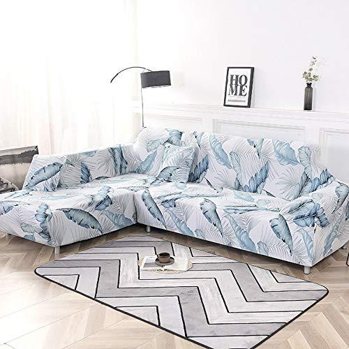 Funda de sofá nórdica, Juego de algodón, Funda de sofá, Funda de sofá elástica para Sala de Estar, sofá Chaise Longue en Forma de L A14, 1 Plaza