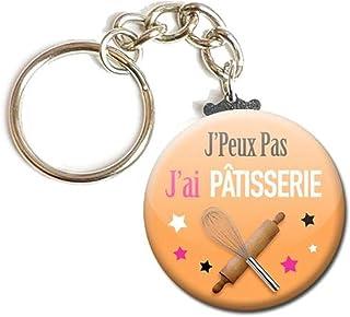 Porte Clés Chaînette 3,8 centimètres j' peux pas j' ai Pâtisserie Idée Cadeau Accessoire Humour Loisir Hobby Passion Excuse
