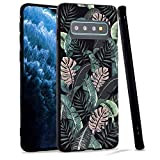 LuGeKe Tropical Aloha Phone Case for Samsung Galaxy S8+ Plus,Monstera Leaves Patterned Case Cover,Soft TPU Cover Flexible Ultra Slim Anti-Stratch Bumper Protective Boys Phonecase(Tropical Summer)