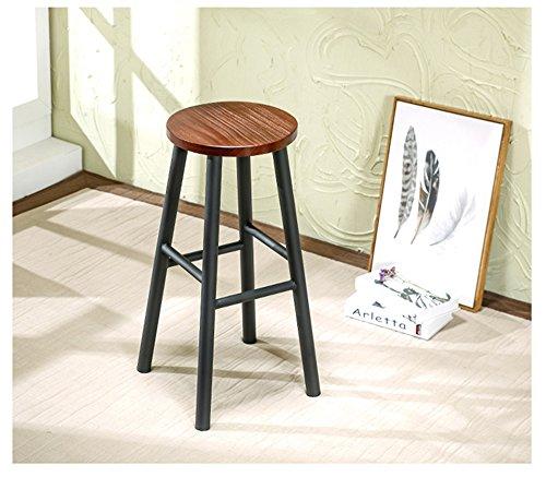 LightSeiEU/Chaise haute en fer Cafe Bar Simple Mode Bar Chaise Hauteur de siège 65 et 75 cm (plusieurs couleurs) (Couleur : Noir, taille : 65cm)