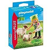 Playmobil - Fermière avec Moutons - 9356