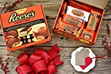 REESE'S Chocolate Peanut Butter Holiday Candy Variety Pack Christmas Gift Set, 30 Count