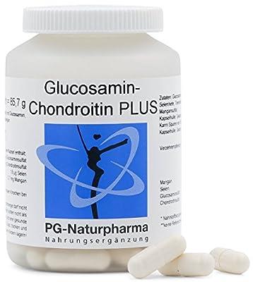 Glucosamin Chondroitin Kapseln - 100 Kapseln - 500mg Glucosaminsulfat & 300mg Chondroitinsulfat je Kapsel - 1500mg Glucosaminsulfat pro Tagesdosis - mit Selen & Mangan - aus Deutschland
