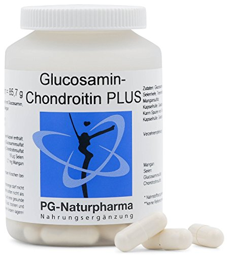 Glucosamine Chondroïtine - 100 capsules de glucosamine sulfate - fortes doses - avec 500 mg glucosamine sulfate èt 300 mg chondroitine sulfate - capsules de sélénium et de manganèse