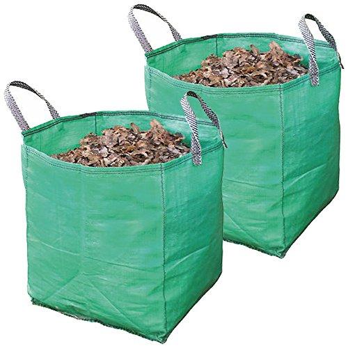 Spares2go stor extra stark trädgårdsavfall skräp påse (120 liter, paket med 2)