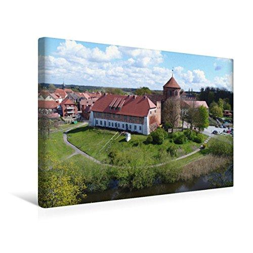 CALVENDO Premium Textil-Leinwand 45 x 30 cm Quer-Format Alte Burg Neustadt-Glewe, Leinwanddruck von Markus Rein