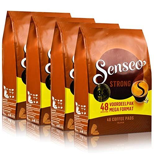 Senseo Kaffeepads Dark Roast / Kräftig, Intensiver und Vollmundiger Geschmack, Kaffee, neues Design, 4er Pack, 4 x 48 Pads