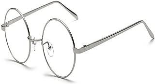 AiweijiaBlue Light Blocking Computer Glasses Retro Round Metal Clear Lens Glasses