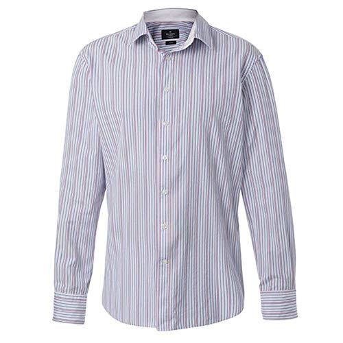 Hackett Lolly Stripe Mens Shirt L Blue/Pink