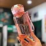 Xiaobing La vita dei bambini semplice copertura di rimbalzo portatile esterno materiale per PC tazza di acqua tazza di plastica -Pink-500ml