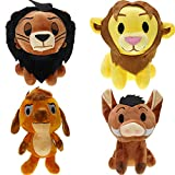 4Pcs/Set Plush Toys Cartoon The Lion King Simba Pumbaa Plush Toys, Gifts for Children Birthday Gift 20cm