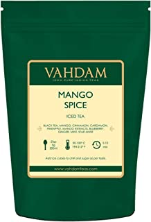 VAHDAM, Mango Spice Iced Chai Tea | 7.06 Oz, 40 Servings, 8 Quarts | 100% Natural Ingredients | Delicious Flavor of Black Tea, Spices & Mango | Mango Iced Tea | Iced Tea Loose Leaf