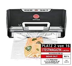 ROMMELSBACHER Vacuumer VAC 485 – sugkapacitet 15 liter/min., enhandsdrift, lämplig för långtidsdrift, dubbel tätningssöm, 2 tätningstider, för filmer upp till 30 cm breda