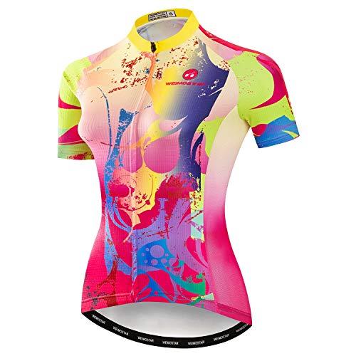 Fietskleding, sneldrogend, korte mouwen, voor heren, wielrennen, voor outdoor-sport.