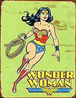 UNiQ Designs Vintage Wonder Woman Retro Tin Sign Wonder Woman Accessories - Wonder Woman Wall Art - Woman Cave signs and Decor - Wonder Woman Poster Discount - Wonder Woman Decor Retro Poster 12x8