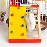 SJHFG Escalera de escalada de hámster lindo de madera pequeño animal juguete...