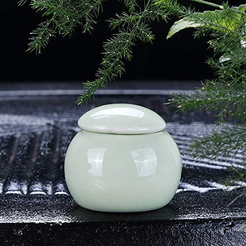 CWDOG Mini zak met deksel zegel celadon thee blikjes cosmetische lippenstift rouge crème remover crème opslag tank pillen porselein fles, 3.1X3cm