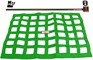 Southwest Speed Green Racing Window NET & Push Button Installation KIT W/Hardware,18