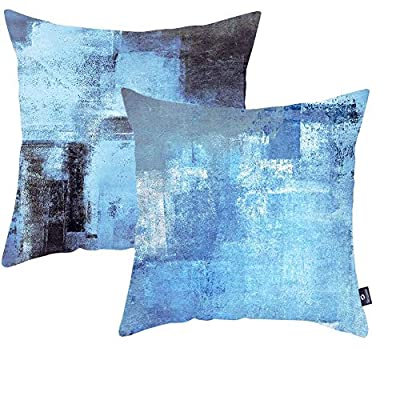 Symiiaus 2 Pack 18 x 18 Inch Throw Pillow Cover...