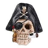 POPETPOP Pecera Decoración del Acuario Cráneo Pirata Pecera Cabeza Esqueleto Acuario Cueva Paisaje Acuario Decoraciones