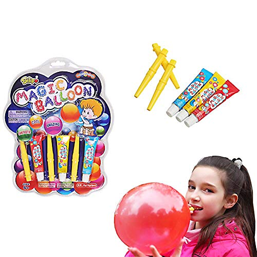 BILIPO Bubble Toy, Fidget Toys, Bubble Balloon, Magic Balloon, Plastic Balloons Variety Pack, 3 Tubes of Assorted Colors