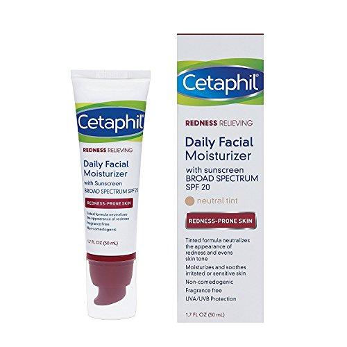 Cetaphil Redness Relieving Daily Facial Moisturizer SPF 20, 1.7 Ounce