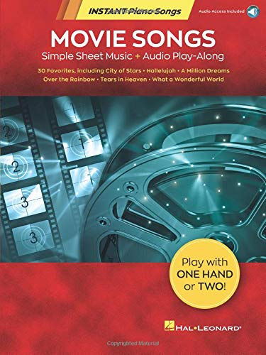 Movie Songs - Instant Piano Songs: Simple Sheet Music + Audio Play-Along
