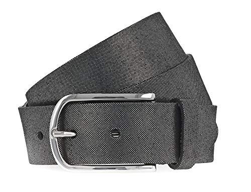 Vanzetti Damen Leder Gürtel Rindleder Damengürtel schwarz silbermetallic 35 mm (105 cm)