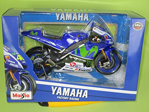 Maisto m31408Modell von Valentino Rossi 's 2016FIAT Yamaha Moto GP Bike in Maßstab 1: 10