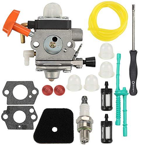 Wellsking C1Q-S174 Carburetor for FS87 FS90 FS100 FS110 FS130 HL90 HL95 HT100 HT101 KM90 SP90 Carb Trimmer C1Q-S131 4180-120-0610 4180-120-0611 with Tune Up Kits