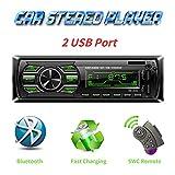 Autoradio Bluetooth Mains Libres, Radio Voiture avec 2 Ports USB,4x60W Radio Voiture...