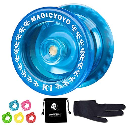 YOSTAR Responsive Pro YoYo MAGIC YOYO K1-Plus Yoyo professional with Yoyo Bag/Sack + 5 Strings and...