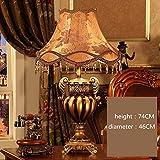 Lámpara de mesa de sala de estar de estilo europeo Lámpara
