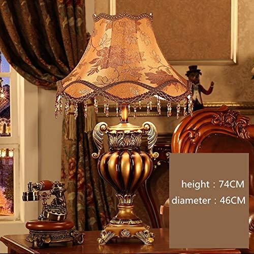 Lámpara de mesa de sala de estar de estilo europeo Lámpara de escritorio americana Sofá creativo de lujo mesa de centro grande luz ajustable dormitorio dormitorio lámpara de mesita de noche
