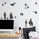 RoomMates RMK4458SCS Star Wars The Mandalorian Peel and Stick Wall Decals,Brown, Black Red