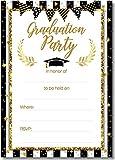 110PCS 2021 Graduation Party Invitations Cards with Envelopes Stickers - Grad Congrats Announcements Supplies