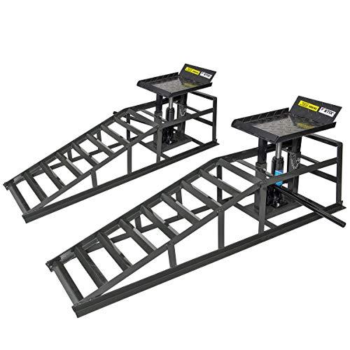 Set di rampe di carico con cric idraulico 2T rampa...
