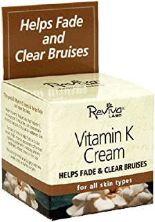 Reviva Labs Vitamin K Cream, For All Skin Types, 1.5-Ounces (Pack of 2)