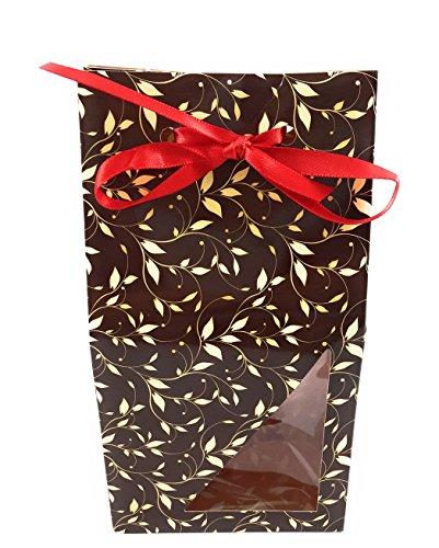 Kaiser Pralines Boîte Cadeau Set de 3, 6 ou 9 boîtes déco Boîte avec fenêtre et Sac en Plastique, Carton, Marron, 1er Pack = 3 Boxen