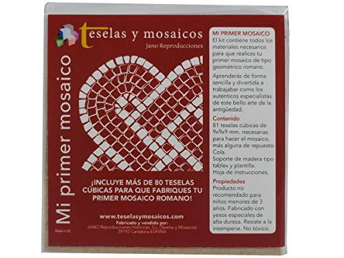 Mi Primer Mosaico. Mosaico circular. 72 teselas + cola + plantilla + instrucciones