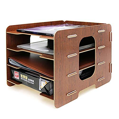 レターケース デスク上置棚 a4 ファイルボックス 木製 多機能 収納ボックス 書類入れ フォルダー 雑誌 新聞 小物収納 卓上収納ラック 書類ケース 書類トレー オフィス 寝室 リビング収納 机上用品 整理整頓