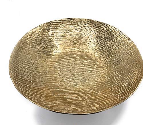 Colmore Alu Schale Gold Dekoschale Tischschale Dekoteller 29x29 cm