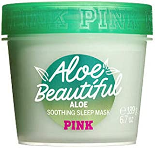 Victoria's Secret Pink Smoothing Clay Face Mask, 6.7 oz / 189g (Aloe Beautiful)