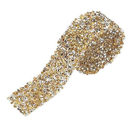 Rollo de cinta de diamantes 1 yarda 30mm Decoración de cinta de diamantes de imitación...