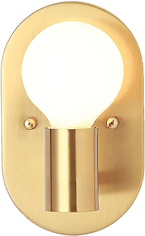 Multi-WallLights lamparas de parojo apliques Dormitorio lámpara de noche creativo metal oval hierro forjado pasillo simple moderno pasillo 12  20cm