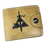WANHONGYUE The Legend of Zelda Juego Cartera de Cuero Artificial Monedero Tríptico Billetera Clásico Portatarjetas para Hombre /3