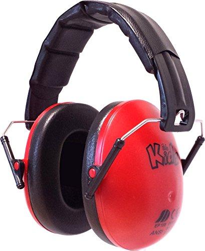 Edz Kidz Kinder Ohr Verteidiger. Ohrenschützer für Kleinkinder und Jugendliche (rot)