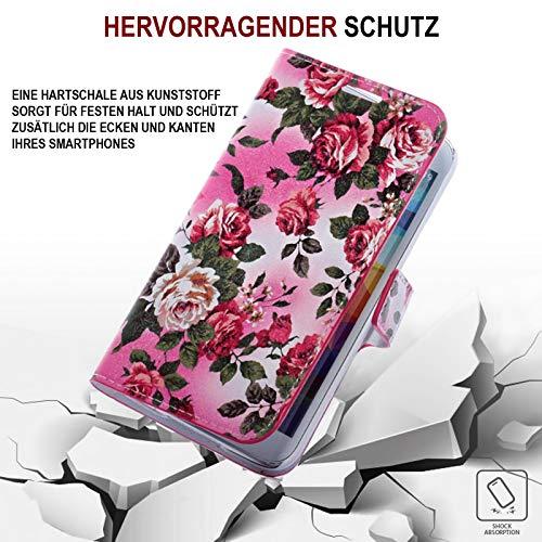 numerva Handyhülle kompatibel mit Huawei Ascend Y530 Hülle [Rosen Muster] Case Ascend Y530 Handytasche - 5