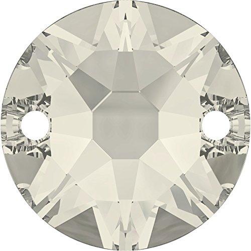 gogoritas Pierres de Strass au Point de Swarovski Elements Rond 8mm (Crystal-Silver Shade), 12 Pièces