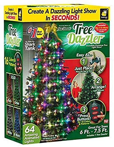 48/64 Star Shower Tree Dazzler LED Christmas Lights 8 Flash Modes Xmas Tree Christmas Decorations for Wedding Xmas New Year Party,48lights